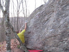"Rock Climbing Photo: Arthur one move off the start for the FA of ""..."