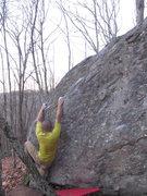 "Rock Climbing Photo: Arthur on the FA of ""Ardbeg Arthurgator"""
