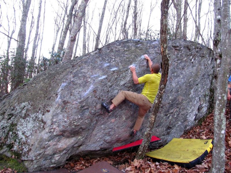 "Rock Climbing Photo: Arthur Hsu on the FA of ""Ardbeg Arthurgator&q..."