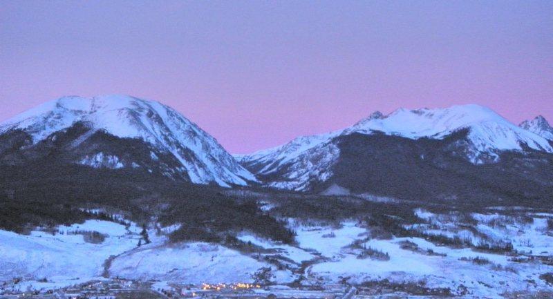 Buffalo Mountain at sunrise.