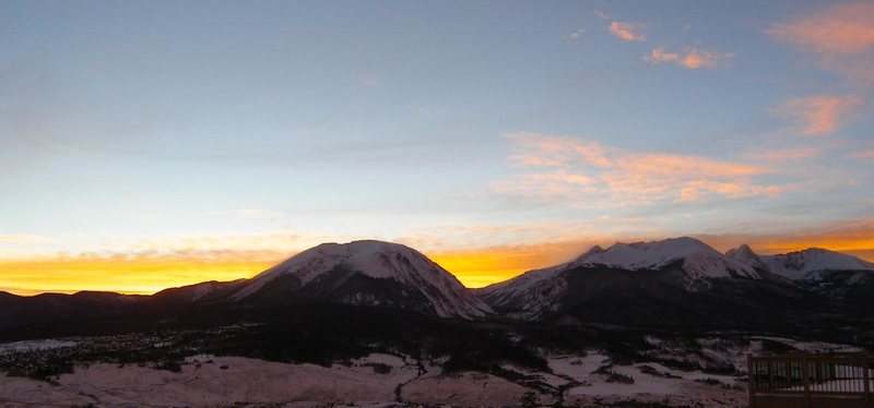 Rock Climbing Photo: Buffalo Mountain at sunset.