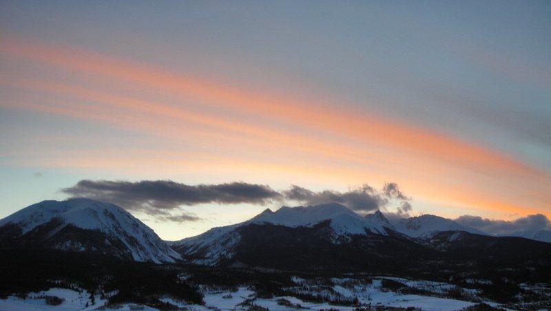 Buffalo Mountain, sunset.
