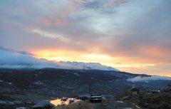 Rock Climbing Photo: Gore Range at sunset.