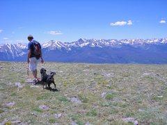 Rock Climbing Photo: Gore Range from summit of Ptarmigan Peak.
