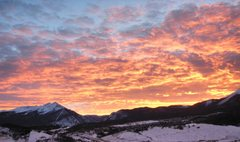 Rock Climbing Photo: Sunset over Tenmile Range.