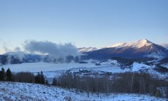 Rock Climbing Photo: Tenmile Range in steam from Lake Dillon.