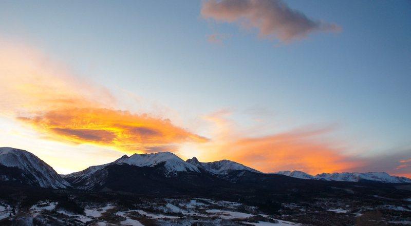 Rock Climbing Photo: Sunset, Gore Range.