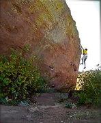 Rock Climbing Photo: Sendin' the Goat Dyno!