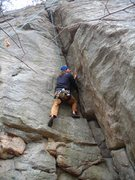 Rock Climbing Photo: The acute Mr Pueschel up in the acute corner of Pt...