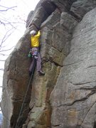 Rock Climbing Photo: Doug plugging cams on American Beauty Crack, OldSS...