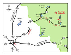 Rock Climbing Photo: Regional Map showing how to get to Courtright from...