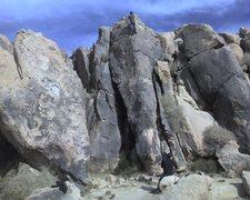 Rock Climbing Photo: Setting a top