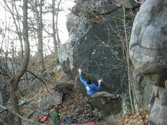 Rock Climbing Photo: Rhoads going big.