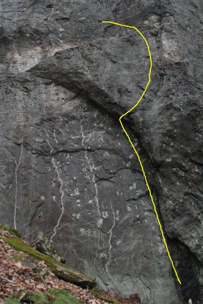 Rock Climbing Photo: an interesting line...