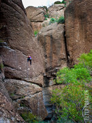 Rock Climbing Photo: A climber on Easy Pool on a perfect November after...