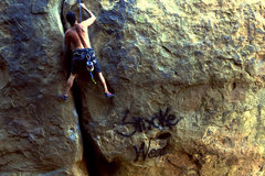 Rock Climbing Photo: Jeff Gallegos on Maggies Farm... SmokeWeedClimbCra...