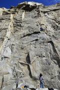 Rock Climbing Photo: finishing up Ground Zero.