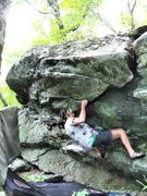 Rock Climbing Photo: Steve working the FA of Under Fire