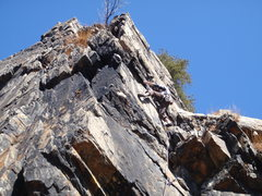 Rock Climbing Photo: The undercling move