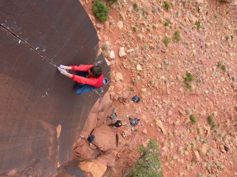 Rock Climbing Photo: Mason on Humble Pie
