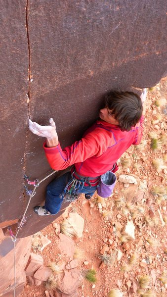 Rock Climbing Photo: Mason on Humble Pie