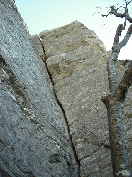 Top pitch of the Daddy. 4th or 5th pitch depending on how you climb the route.