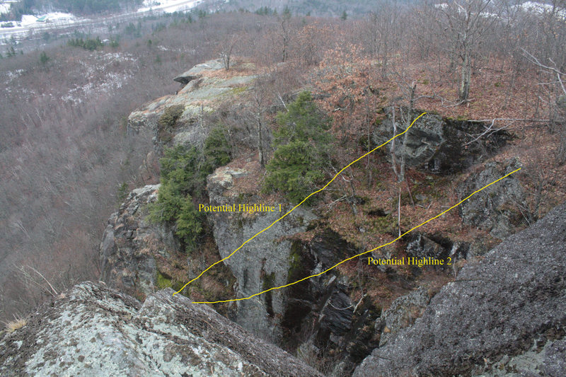 Rock Climbing Photo: Two possible lines