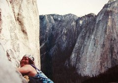 Rock Climbing Photo: El Cap, Gotta love that Tie Dye !