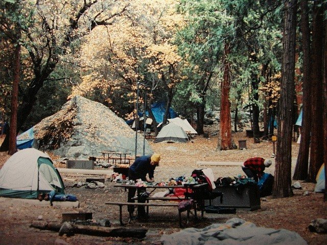 Camp 4- Matt Brown trying to cook breakfast !