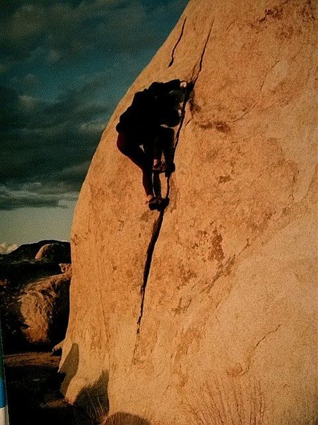 Rock Climbing Photo: Matt Buster high on The Flake.