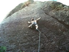 Rock Climbing Photo: Matt Buster busting it up on Thought Control - Bea...