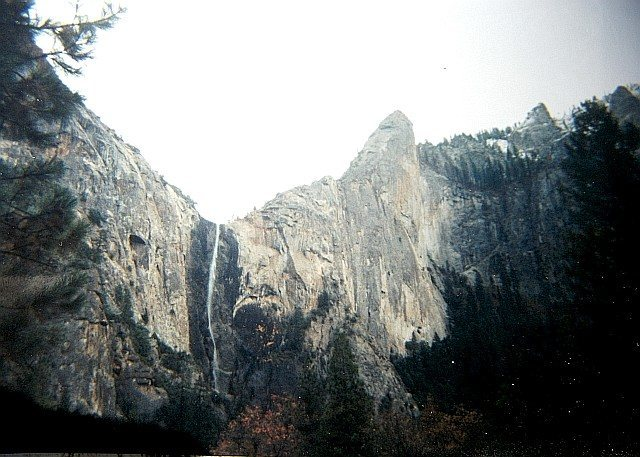 Yosemite- Bridleveil Falls & Leaning Tower