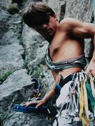 Rock Climbing Photo: Boulder Canyon- Cob Rock - Matt Buster ready to La...