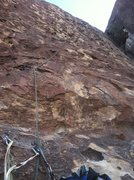 Rock Climbing Photo: start of pitch 2.  used a #3 about ten feet from t...