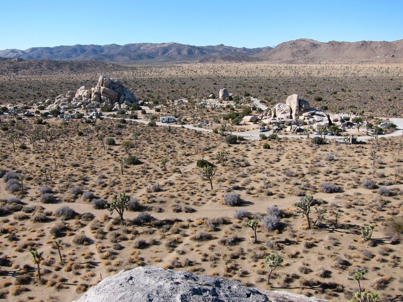 Rock Climbing Photo: Ryan Campground, as seen from the top of Headstone...