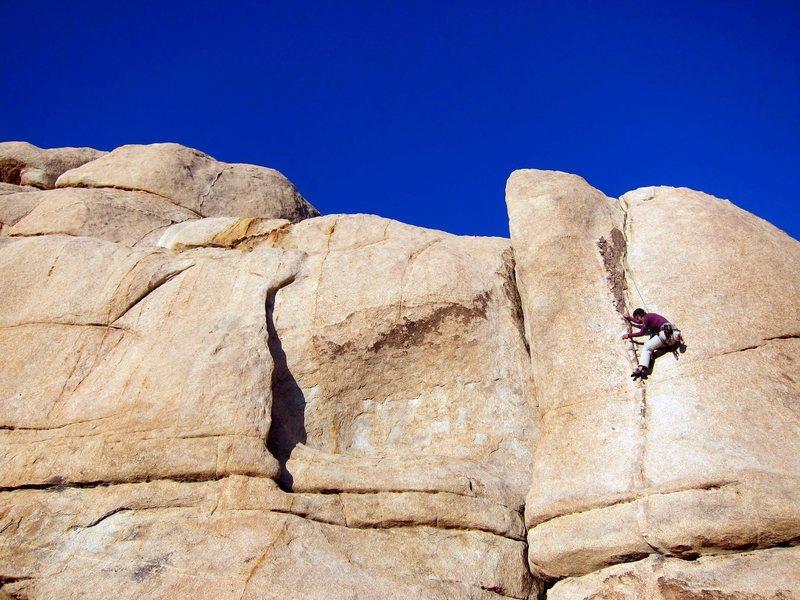 Rock Climbing Photo: Half way up Pinched Rib.