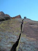 Rock Climbing Photo: Pull the roof to hands, wide hands, fists, offwidt...