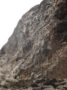 Rock Climbing Photo: Birdman follows the draws to the chains at sky lin...