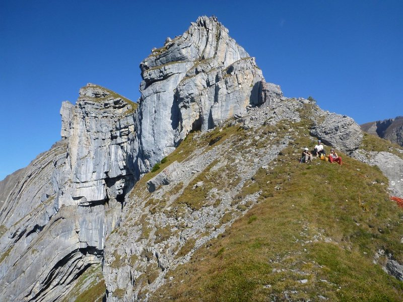 Rock Climbing Photo: Top of Hintisberg
