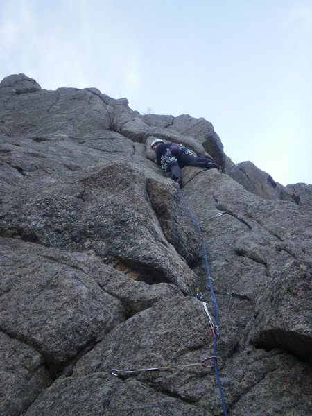 Approaching the crux....