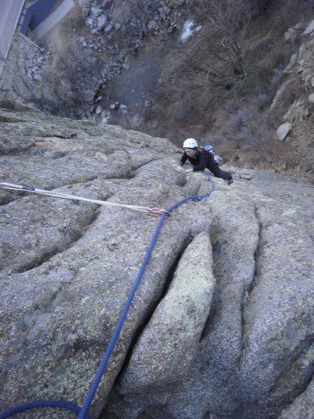 Rock Climbing Photo: Looking down.