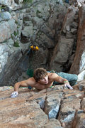 Rock Climbing Photo: Ben getting it on and Piz at the big belay ledge. ...