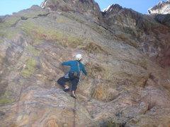 Rock Climbing Photo: Leo deciphering Jack lower crux.