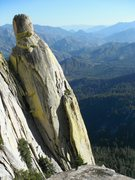 Rock Climbing Photo: The sunny west face of Wizard Needle.