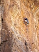 """Rock Climbing Photo: Doug on the """"much coveted 2nd ascent""""."""