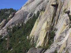 Rock Climbing Photo: Richard Shore following P2 of LP#9, with Rob Beno ...