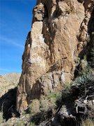 Rock Climbing Photo: Jim working his way up Critics Choice.