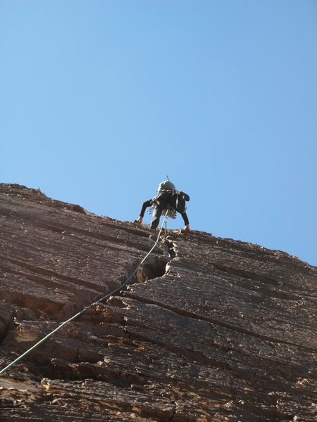 Rock Climbing Photo: Having a blast on the Final pitch of Cat In The Ha...
