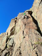 "Rock Climbing Photo: Nearing the top of the ""Leaning Pillar""."
