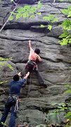 Rock Climbing Photo: sticking the the move
